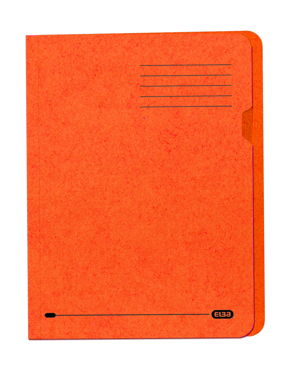Elba Square Cut Folder Recycled Heavyweight 290gsm Foolscap Orange Ref 100090220 [Pack 100]