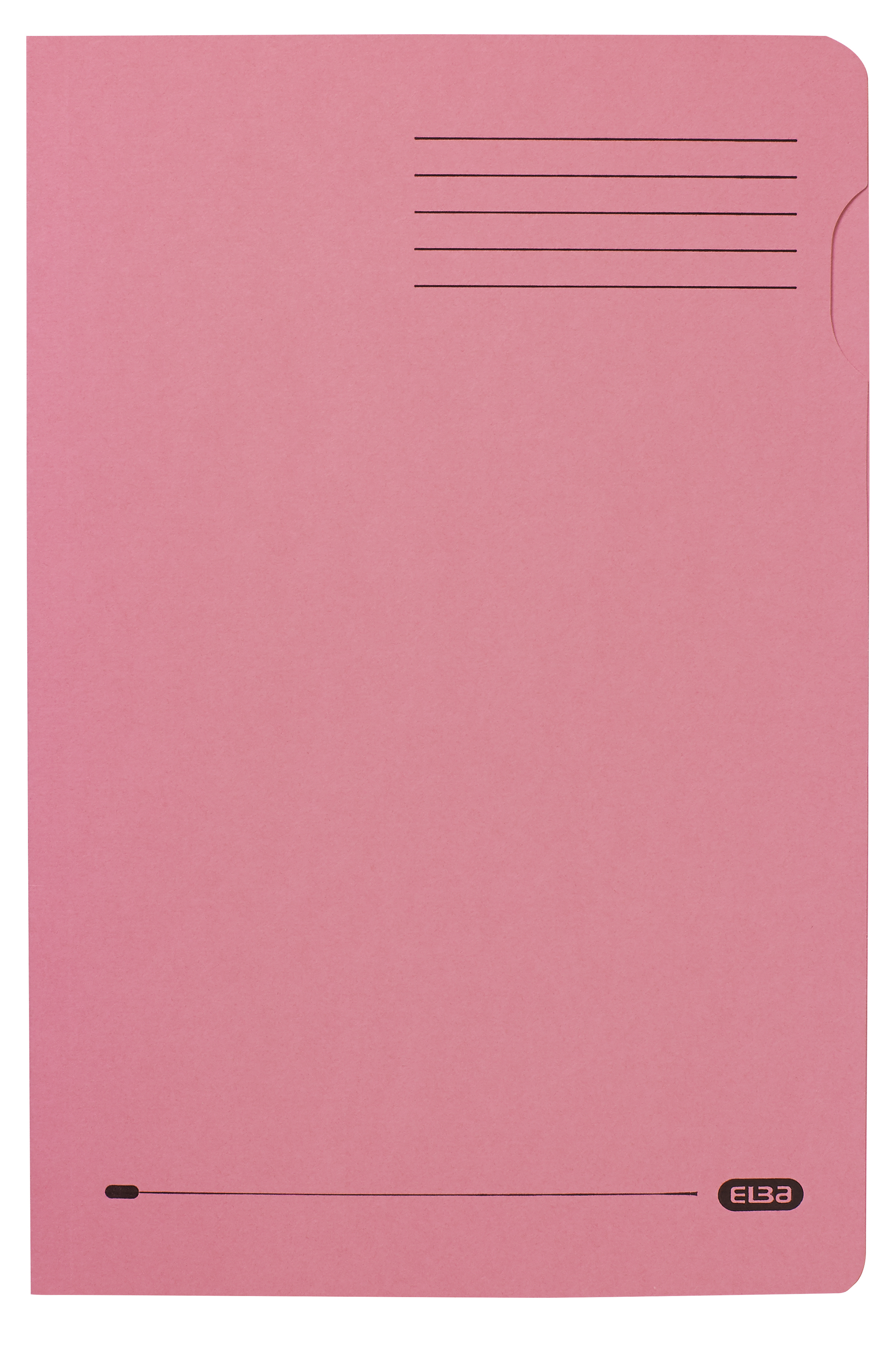 Elba Square Cut Folder Recycled Heavyweight 290gsm Foolscap Pink Ref 100090221 [Pack 100]