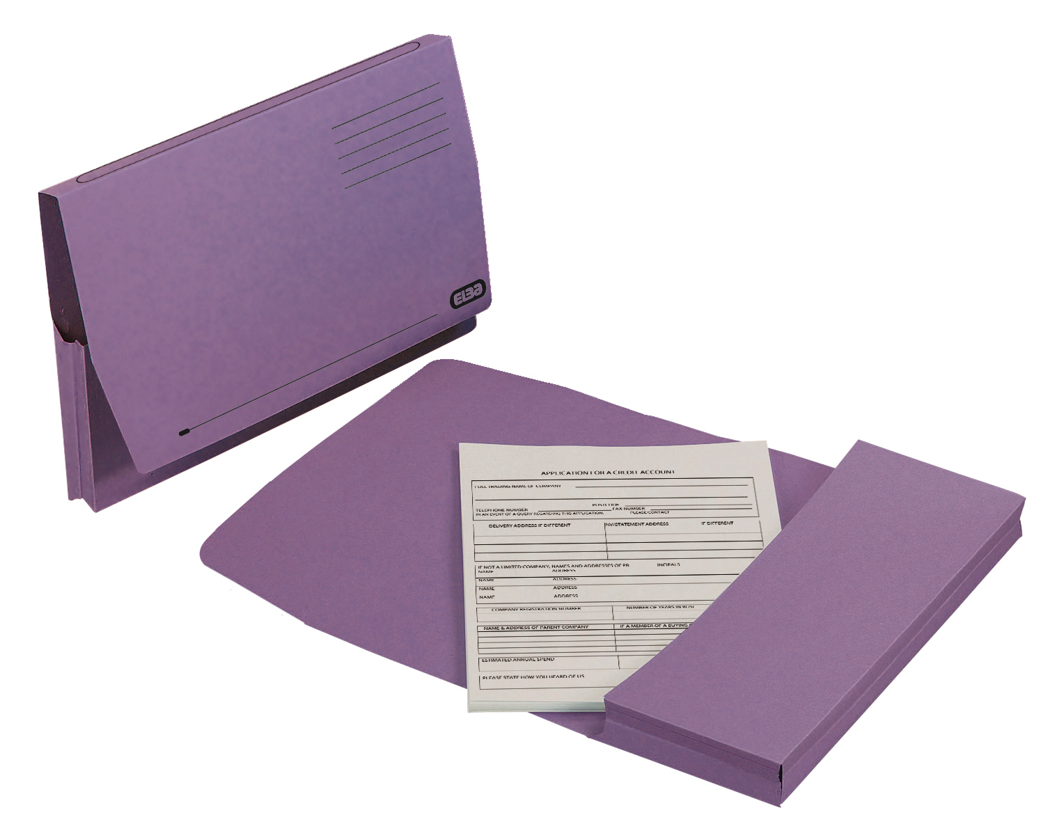 Elba Document Wallet Full Flap 260gsm Capacity 32mm Foolscap Mauve Ref 100090253 [Pack 50]
