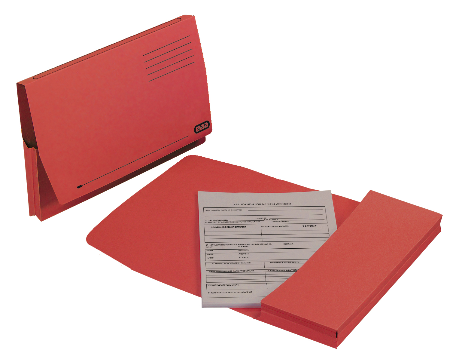 Elba Document Wallet Full Flap 260gsm Capacity 32mm Foolscap Red Ref 100090257 [Pack 50]