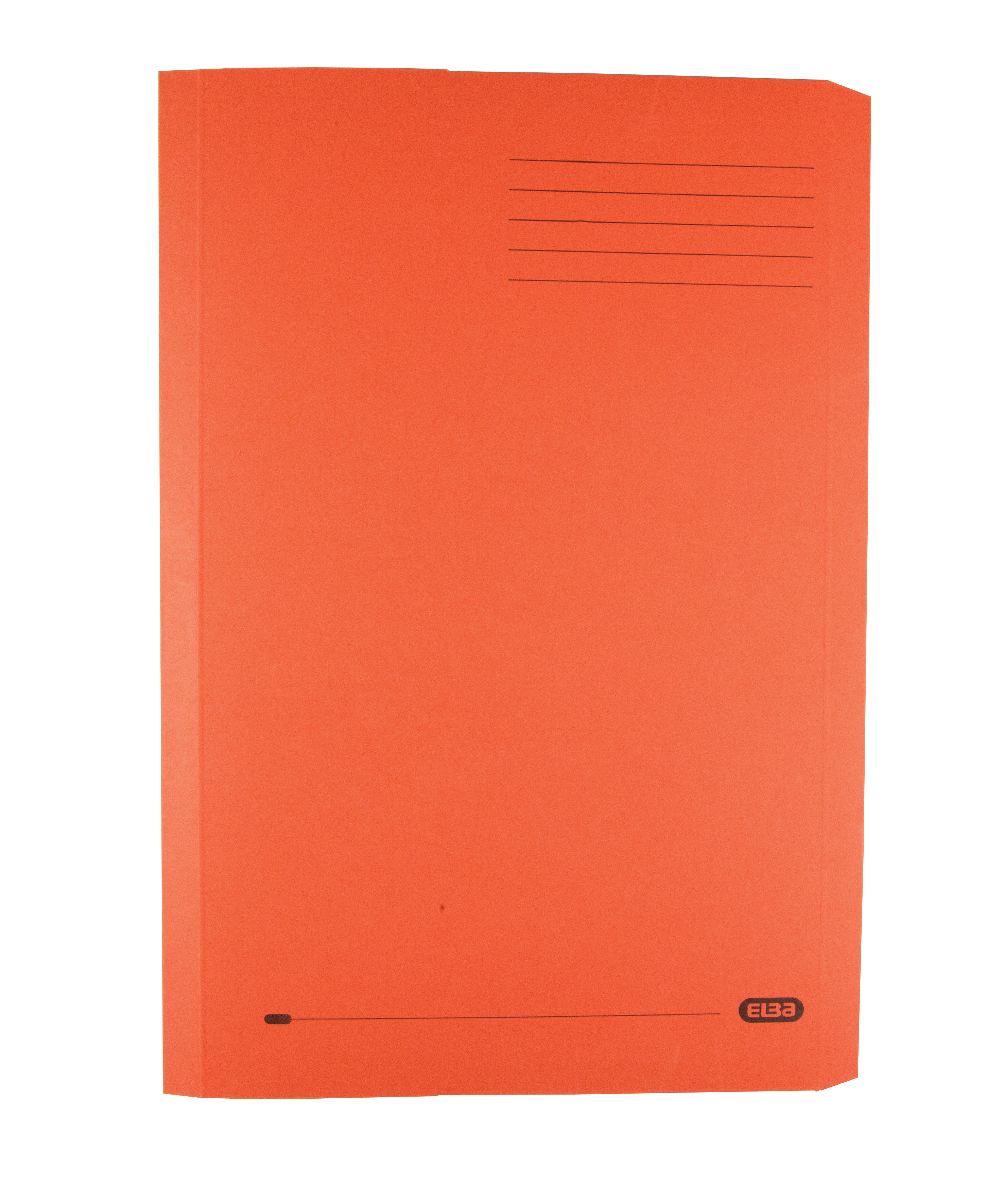 Elba Clifton Flat Bar Pocket (Rear) File 285gsm Capacity 50mm Foolscap Orange Ref 100090321 [Pack 25]
