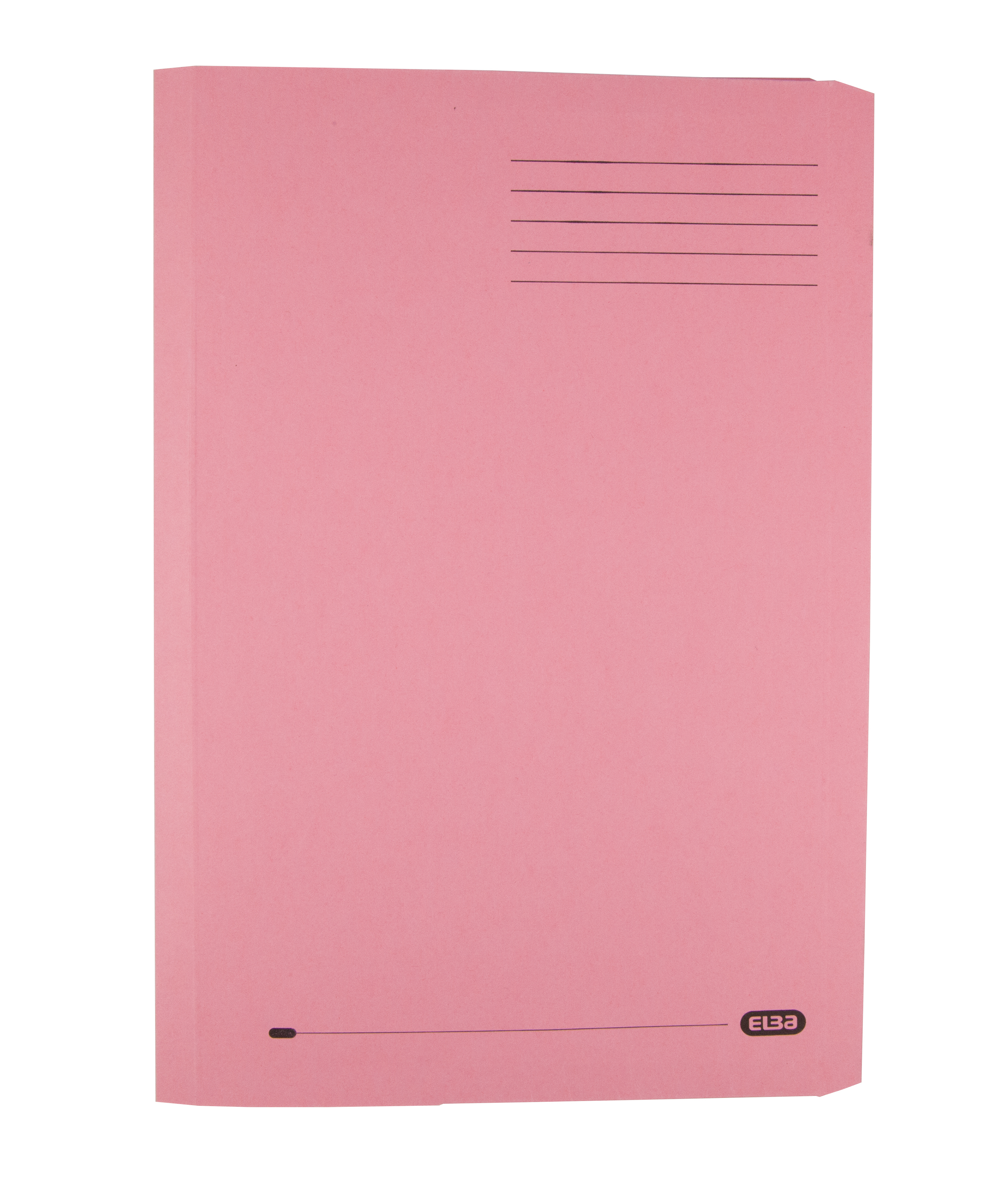 Elba Clifton Flat Bar Pocket (Rear) File 285gsm Capacity 50mm Foolscap Pink Ref 100090322 [Pack 25]