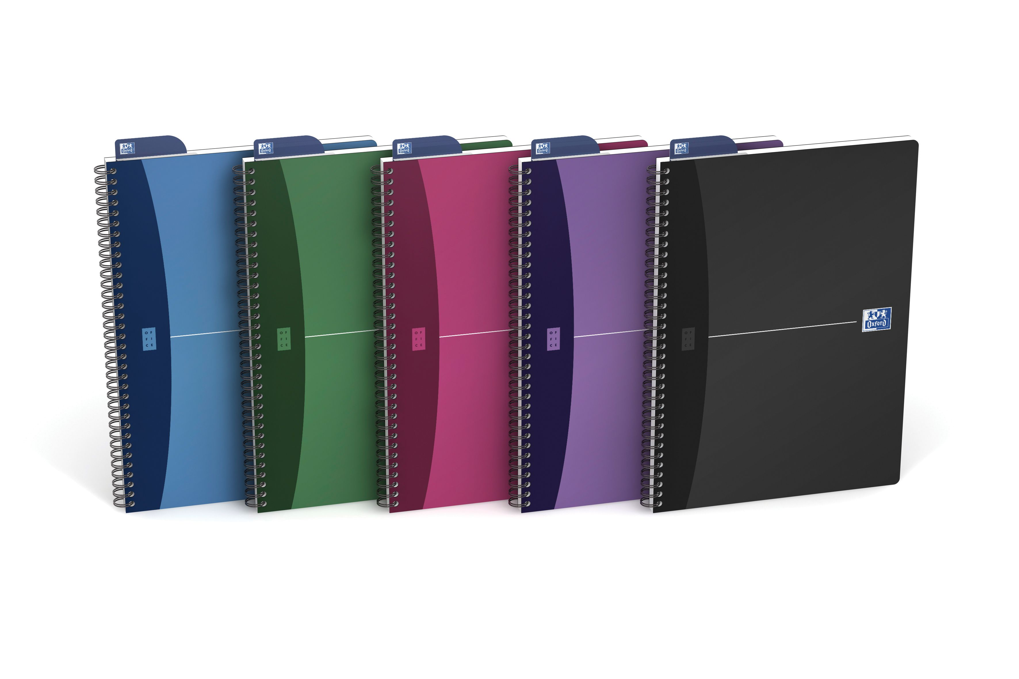 Oxford Office A4 Assorted Metallic Wirebound Notebook (Pack of 5) 100101918