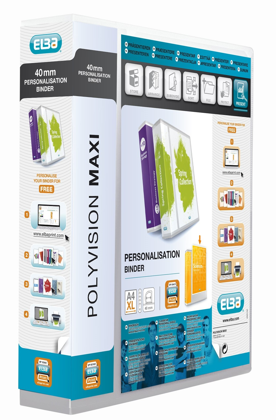 Elba Polyvision Maxi Presentation Binder Polypropylene 4 D-Ring 25mm Clear A4 Ref 100201774 [Pack 10]