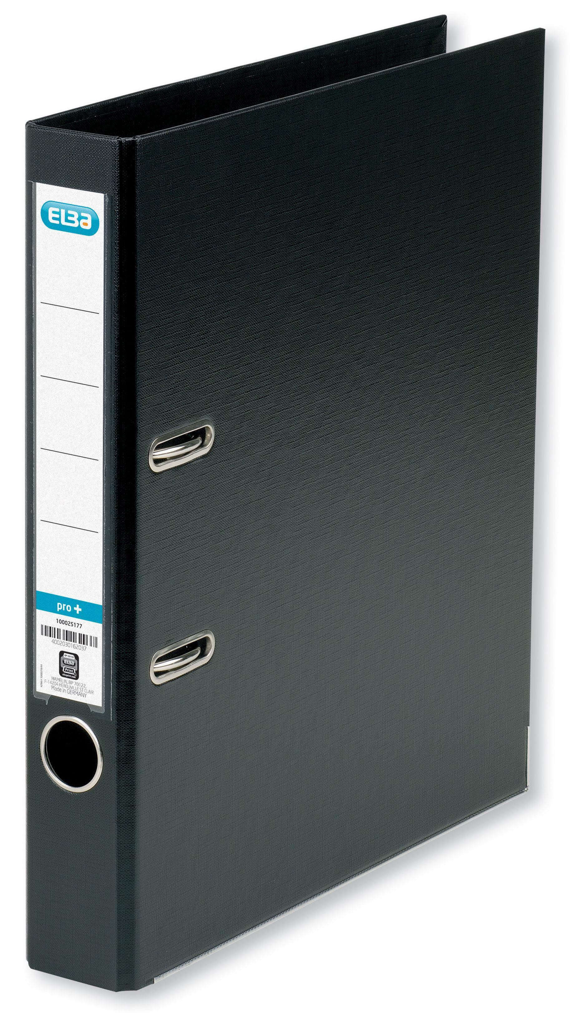 Elba A4 Black 50mm Plastic Lever Arch File 1451-10