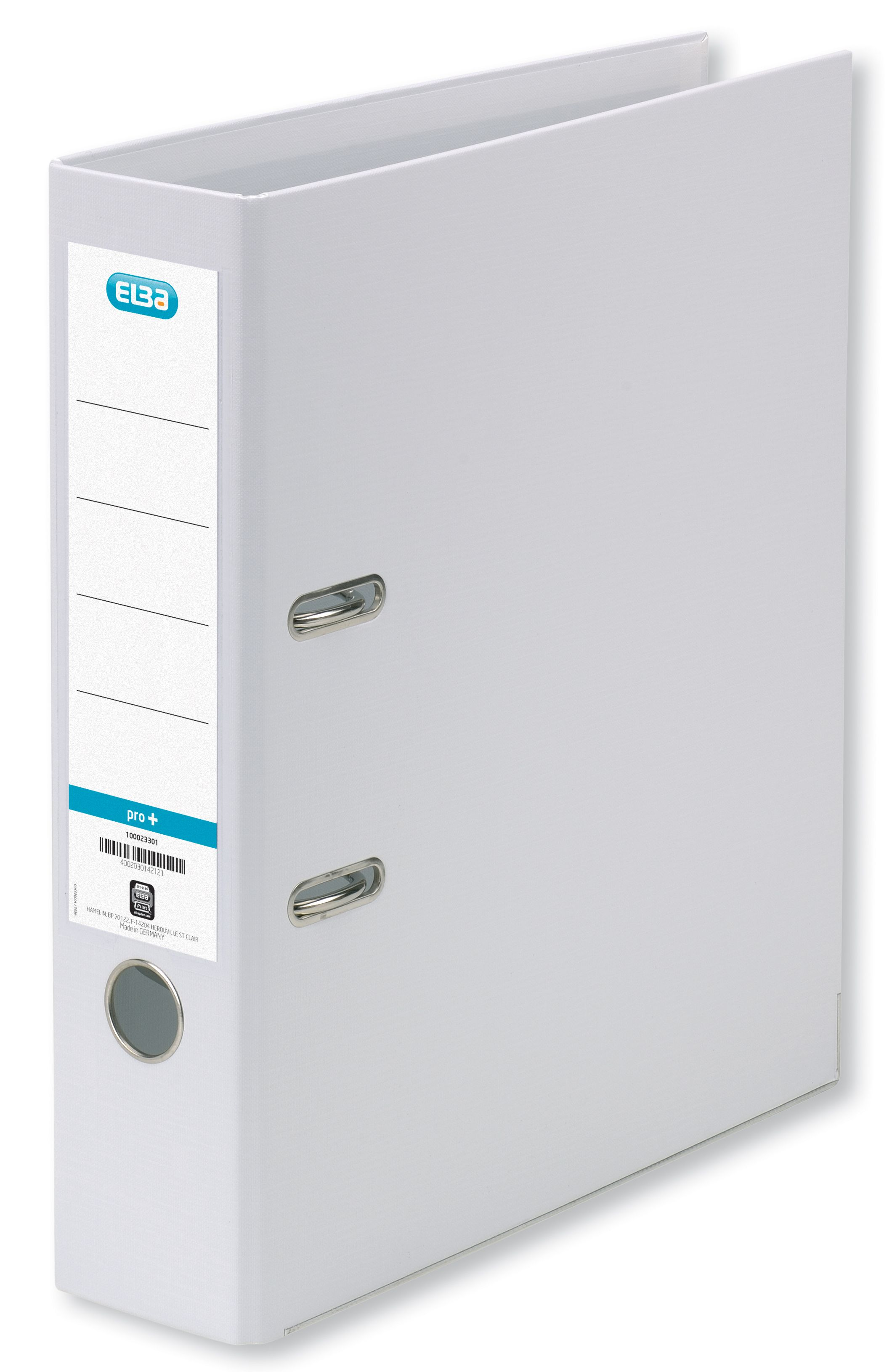 Elba Lever Arch File PVC 70mm Spine A4 White Ref 100202160 [Pack 10]