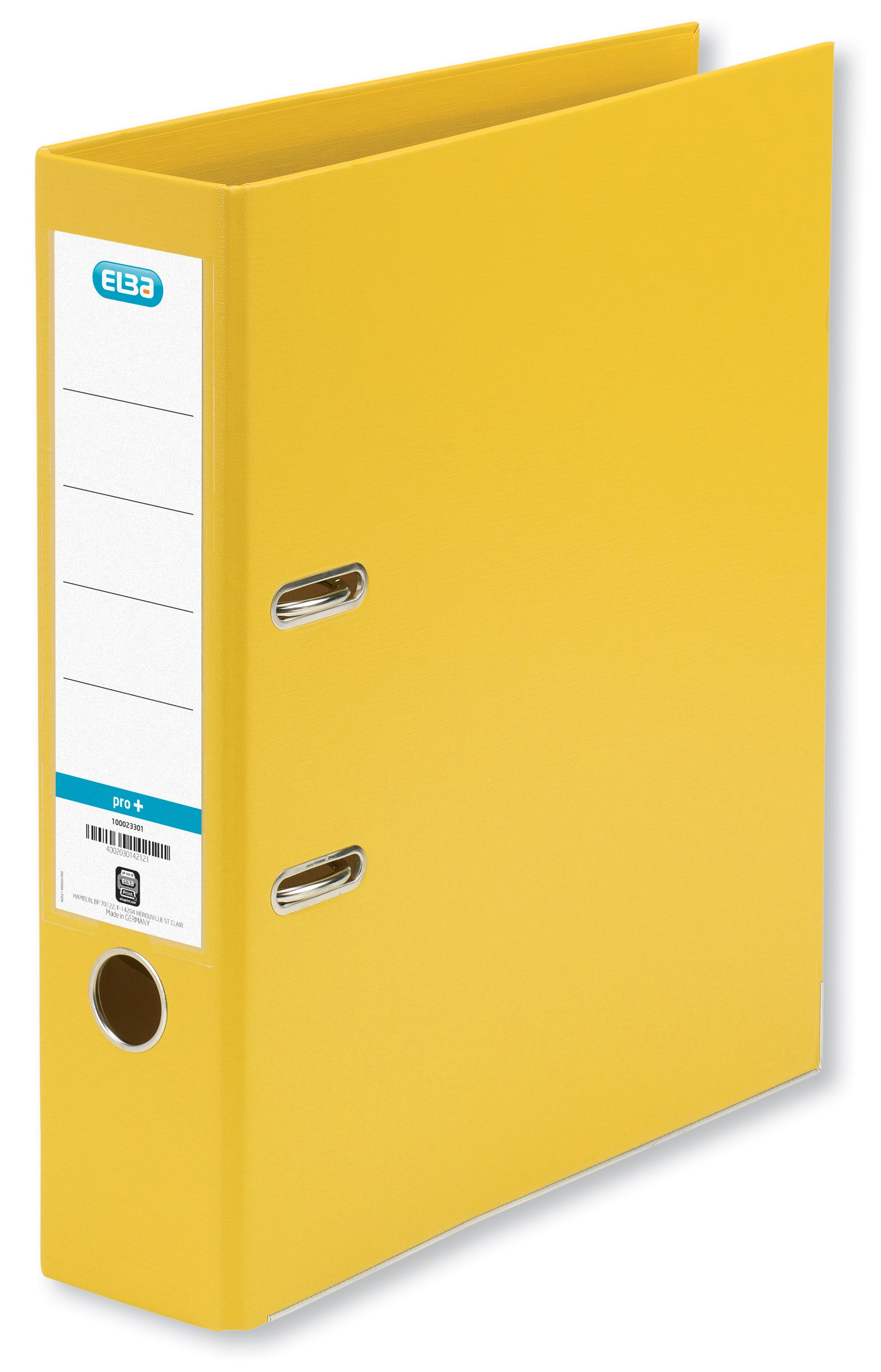 Elba Lever Arch File PVC 70mm Spine A4 Yellow Ref 100202166 [Pack 10]