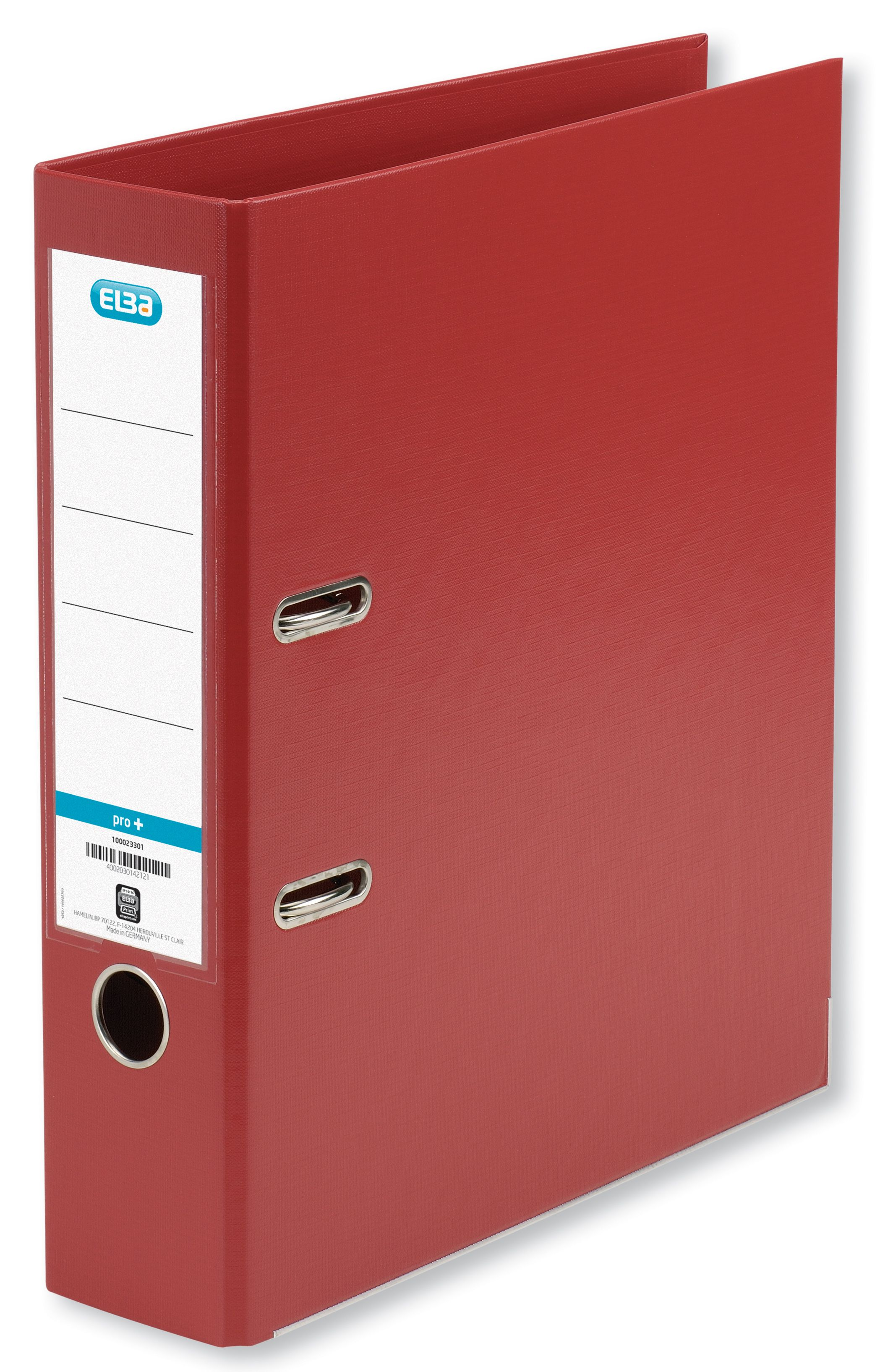 Elba Lever Arch File PVC 70mm Spine A4 Red Ref 100202172 [Pack 10]