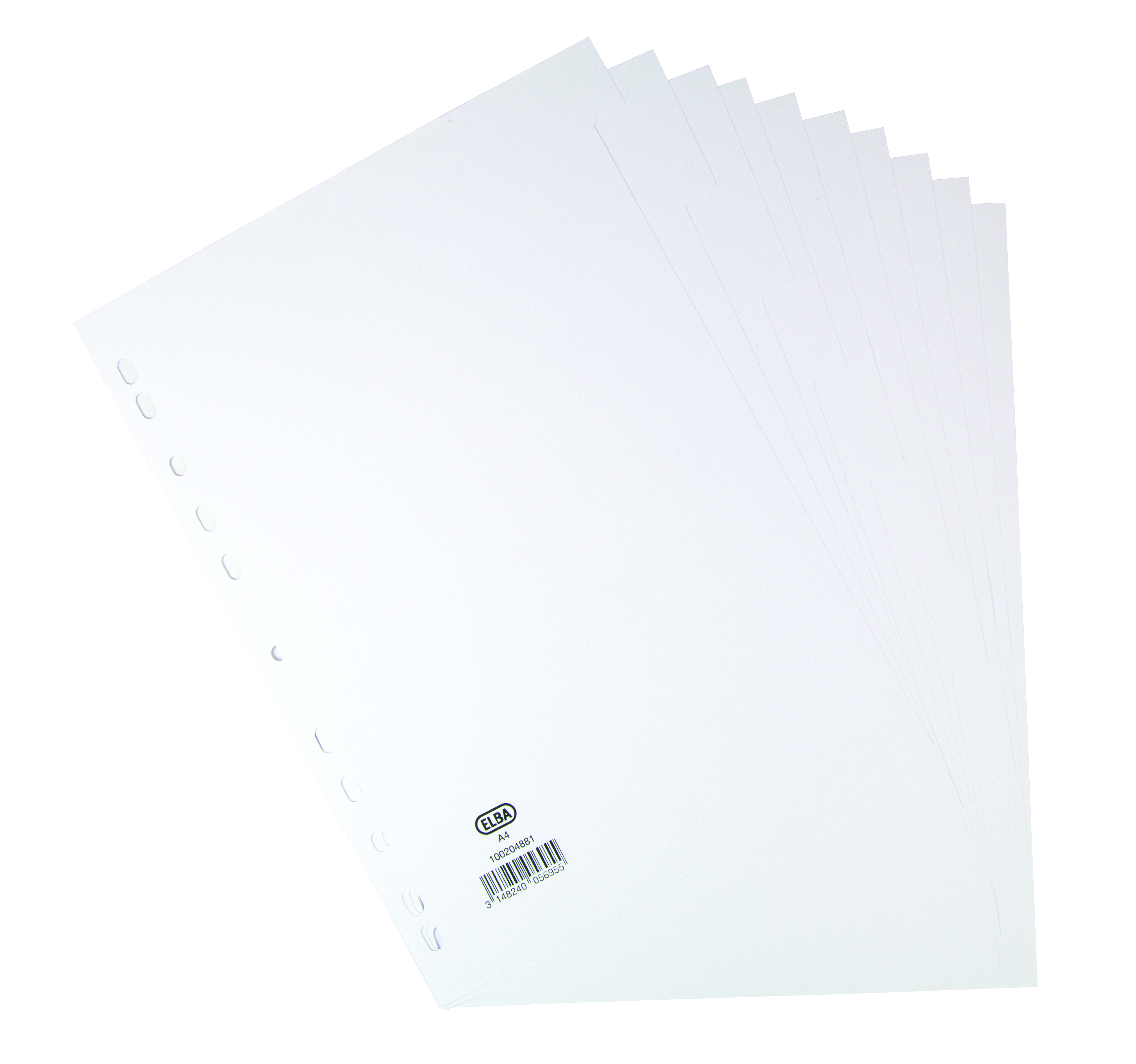 Dividers Elba A4 Manilla 160gsm Subject Dividers Europunched 10 Part White