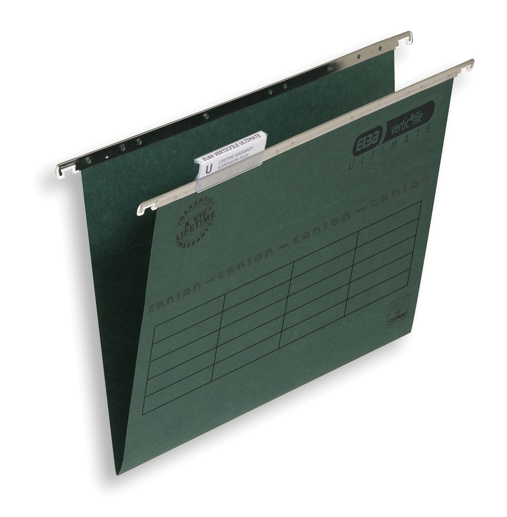 Elba Verticfile Ultimate Suspension File 15mm V-base Manilla 240gsm Foolscap Green Ref100331250 [Pack 50]