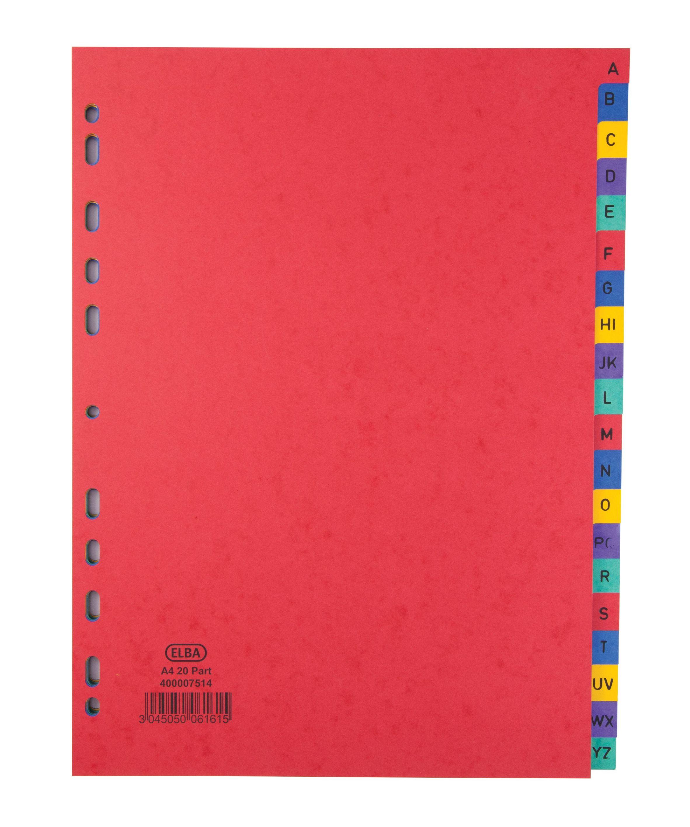 Elba Divider A4 A-Z Pressboard 400007514