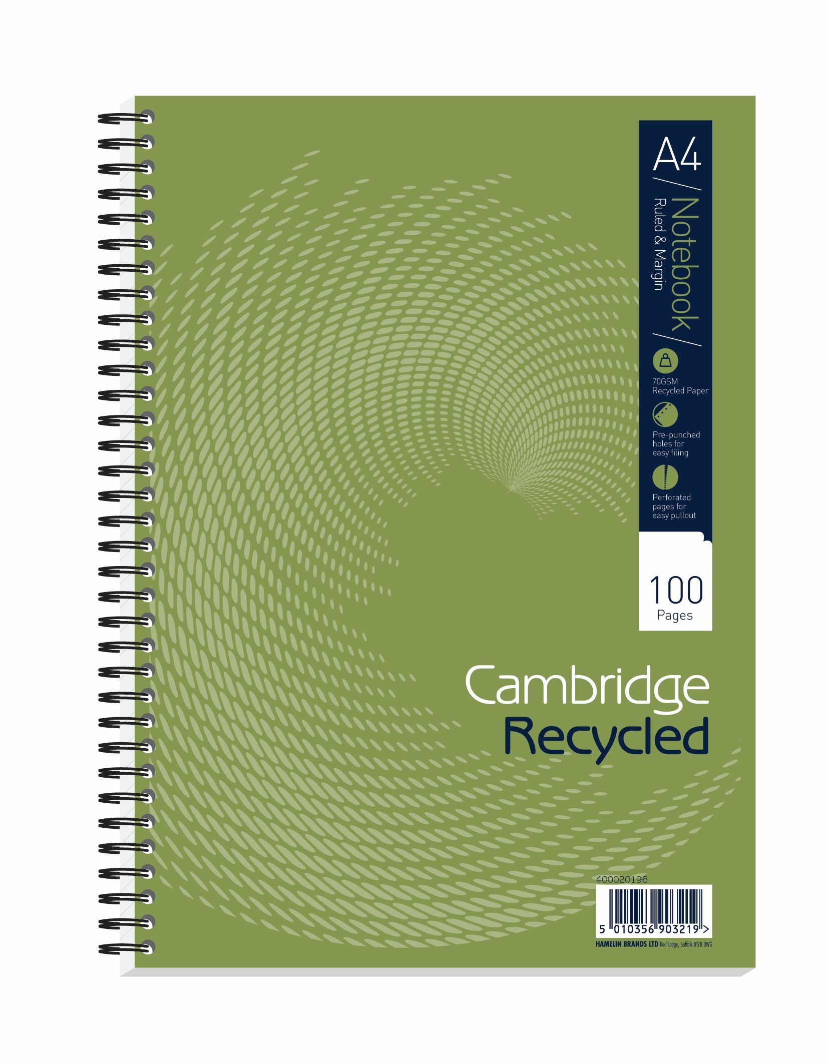 Cambridge Recycled A4 Wirebound Notebook (Pack of 5) 400020196
