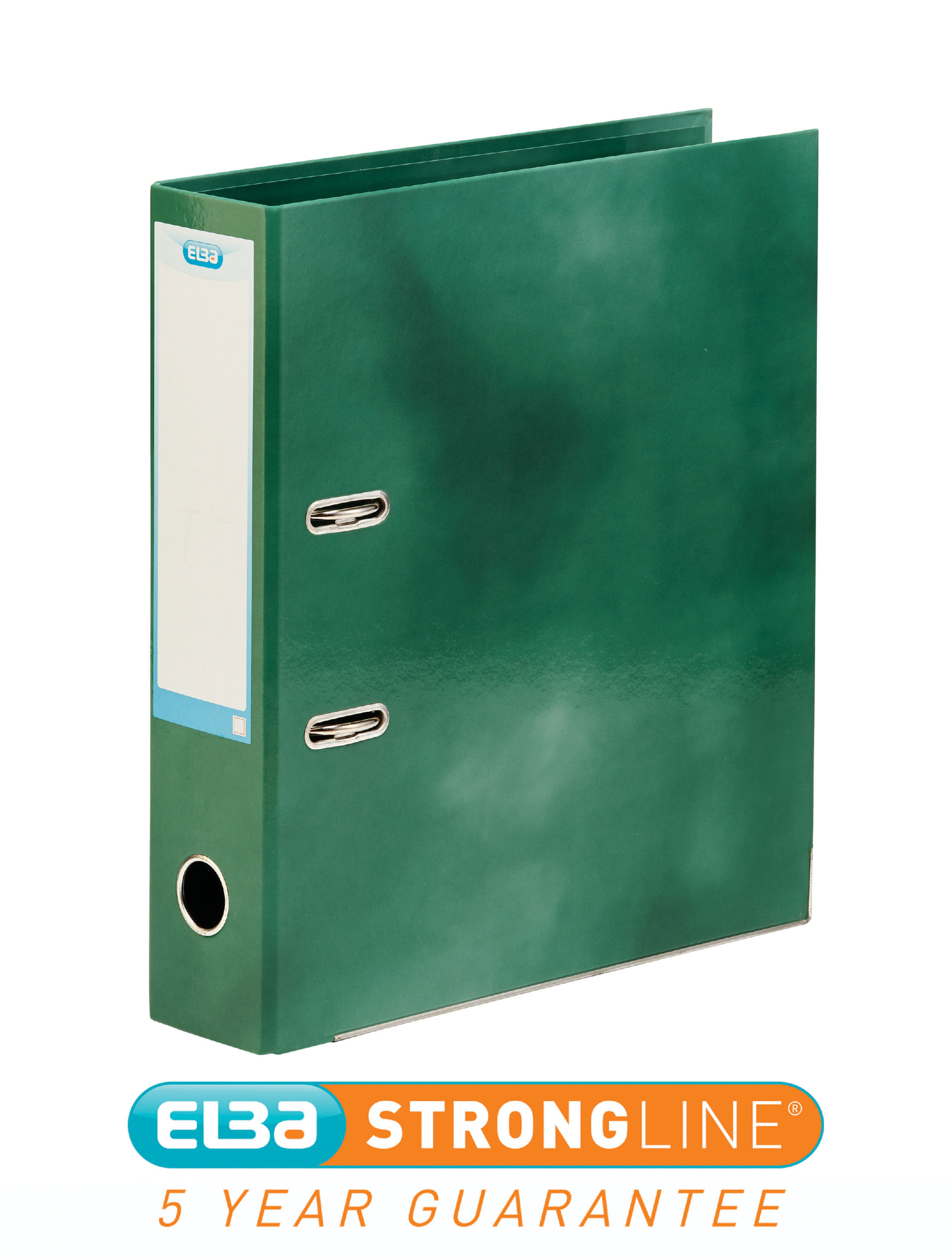 Elba Lever Arch File Laminated Gloss Finish 70mm Capacity A4+ Green Ref 400021005