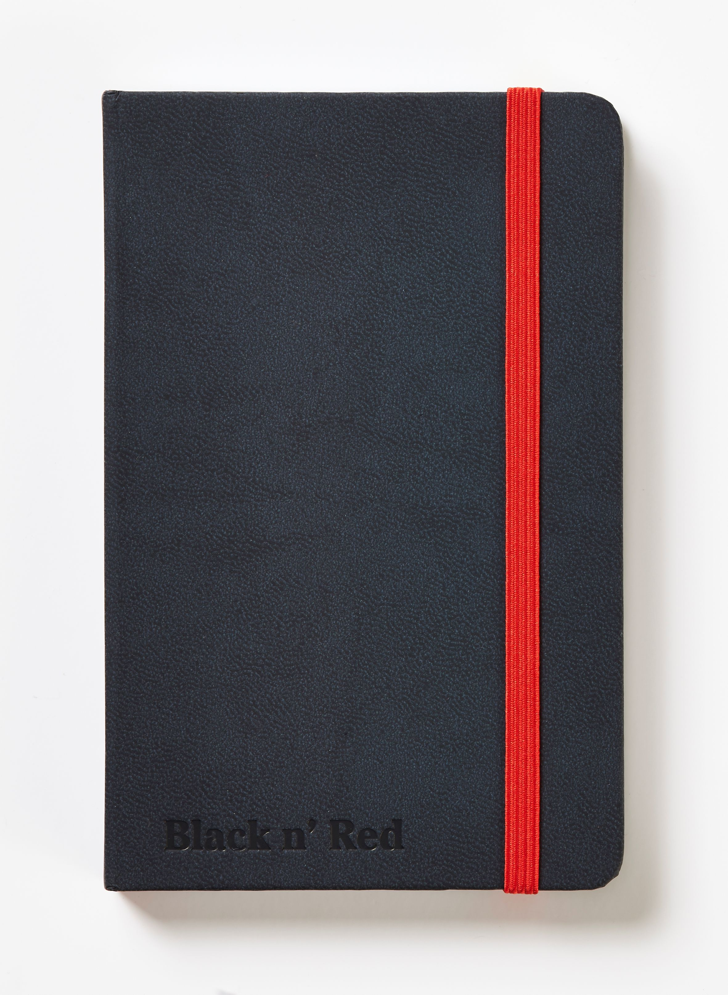 Image for Black By Black n Red Casebound Black Hard Cover Business Journal Ruled With Numbered Pages 144P A6