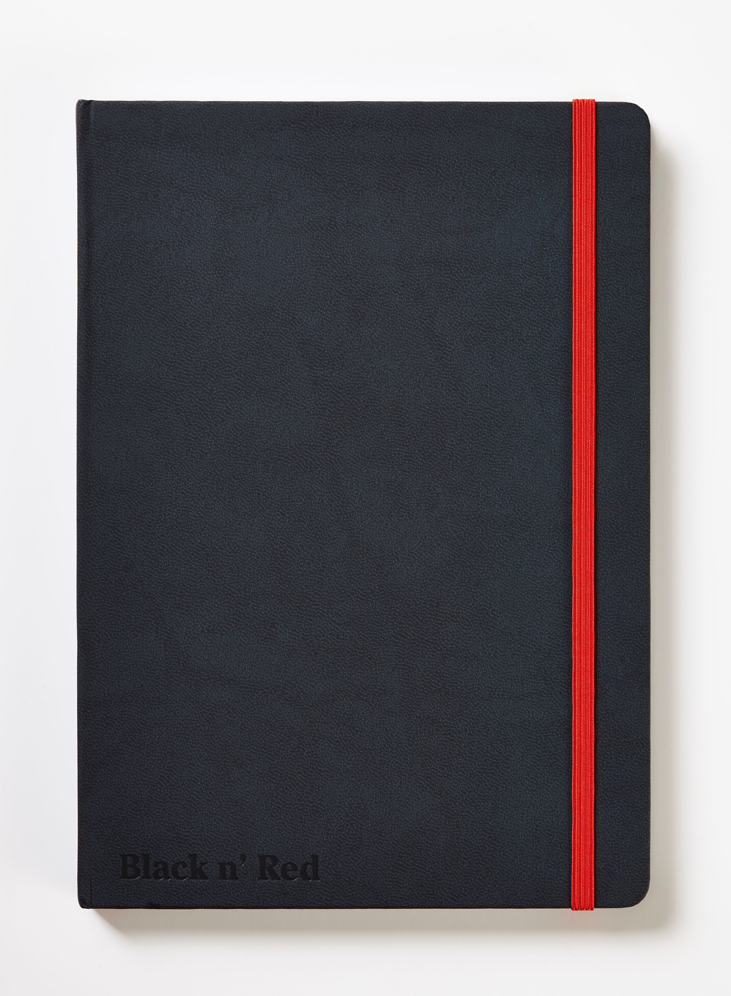 Black n Red A5 Black Casebound Hardback Notebook 400033673