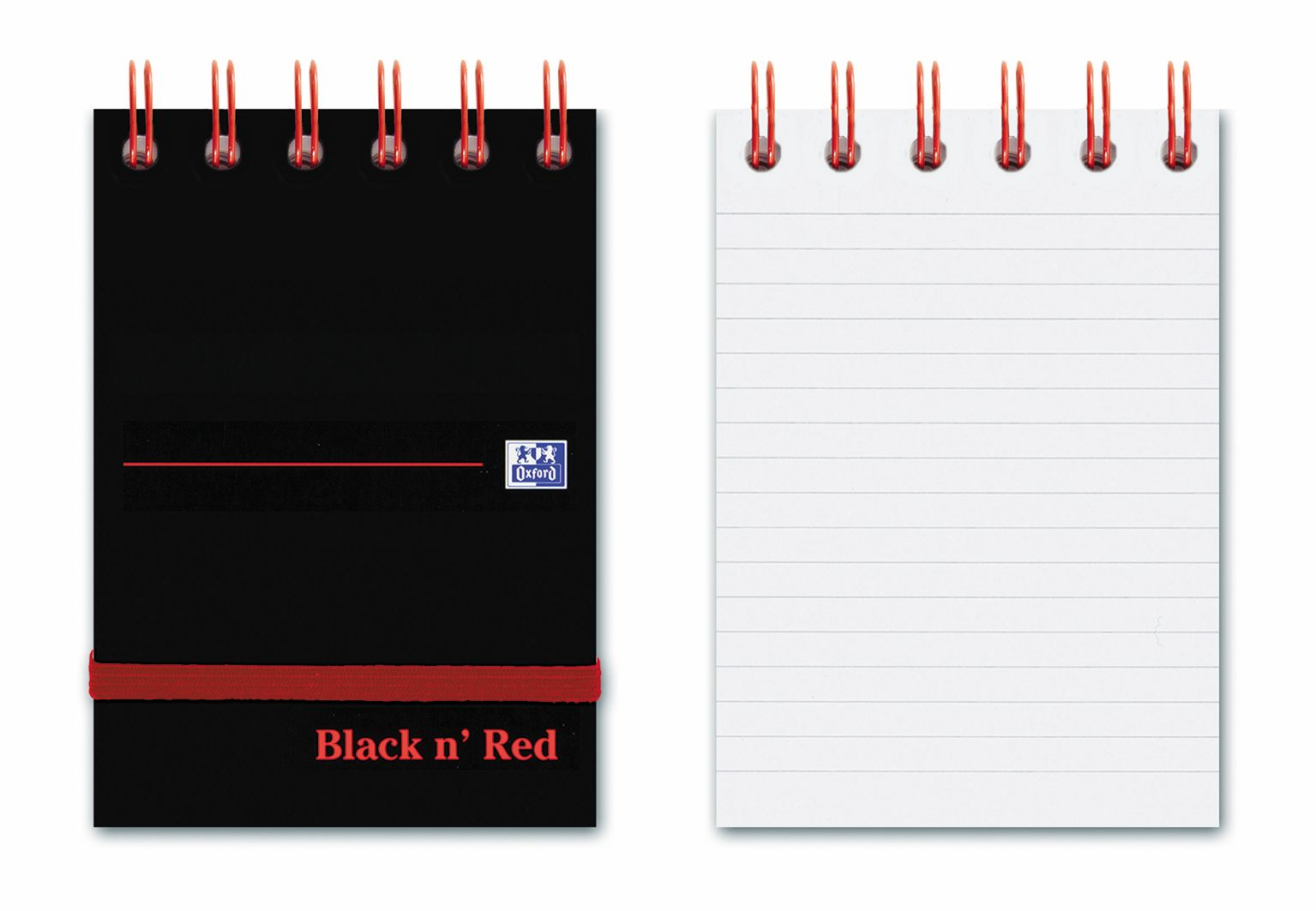 Black n Red Reporters Notebook 140pp Ruled A7 74x105mm Black Ref 400050435 [Pack 5]