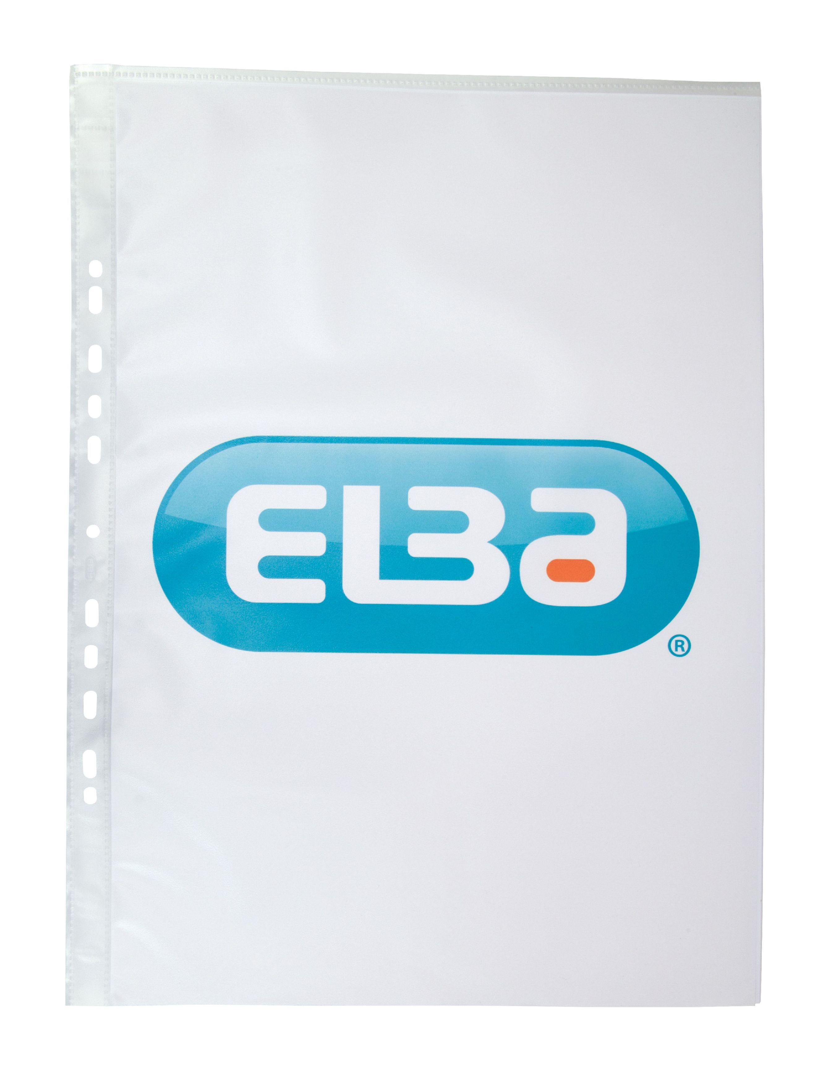 Elba Pocket Polypropylene Multipunched Top-opening A3 Portrait Clear Ref 400005480 [Pack 25]