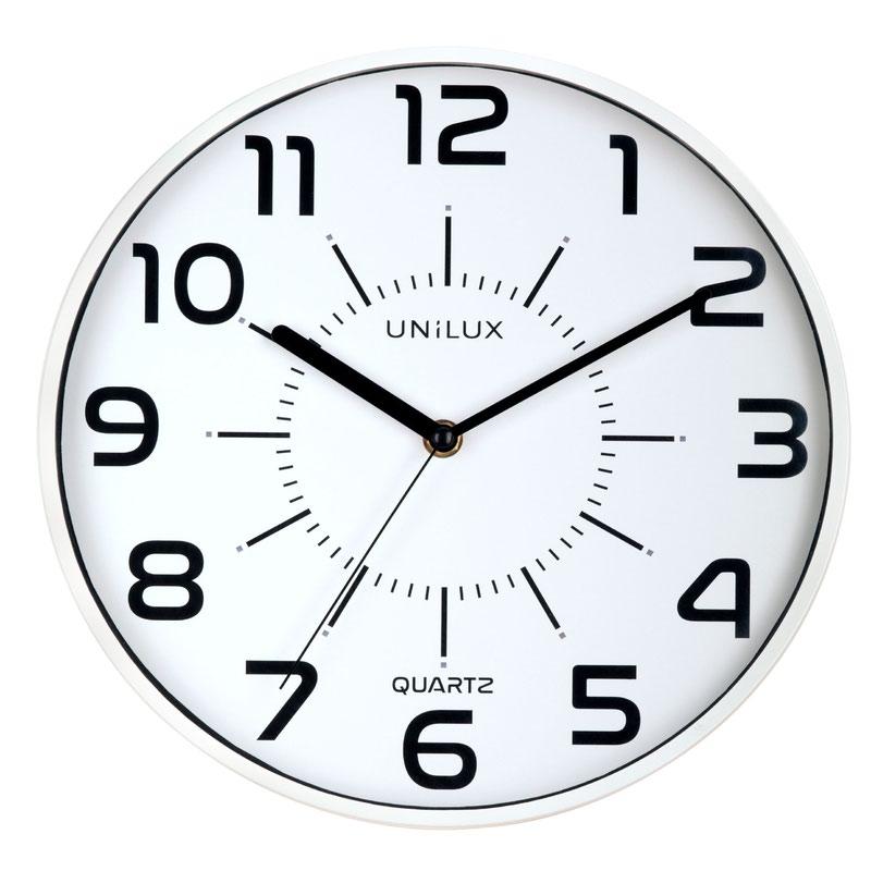 Unilux Clock Pop 280mm Diameter With Battery White Rim 400094282