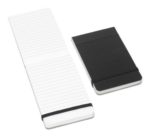 Cambridge Notebook Casebound 60gsm Ruled with Elastic Band 160pp 76x127mm Black Ref 100080057 [Pack 10]