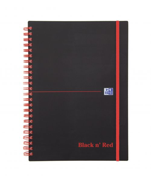 Black n Red A5 Wirebound Polypropylene Cover Notebook PK5