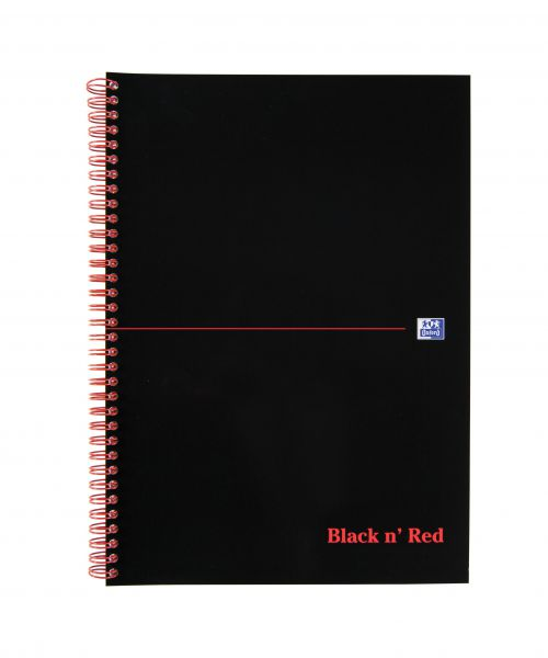Black N Red Notebook A4 Wirebound 100 page PK10