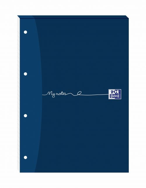 Oxford My Notes Ruled Square Margin Four-Hole Refill Pad 160 Pages A4 (Pack of 5) 100080199