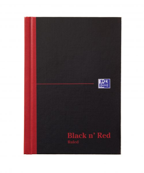 Black n Red A6 Casebound Hardback Notebook PK5
