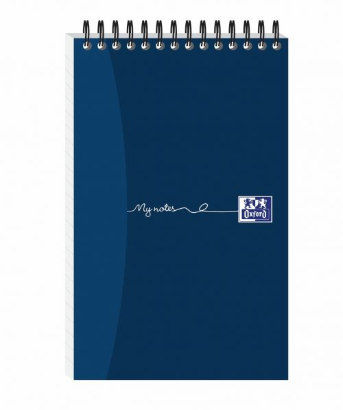 Oxford MyNotes Reporters Notebook 90gsm Ruled Perforated 300pp 125x200mm Ref 100080435 [Pack 5]