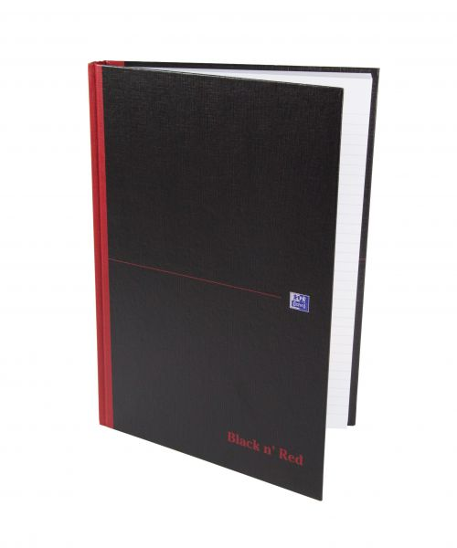 Black n Red Book Casebound 90gsm Ruled 384pp A4 Ref 100080473