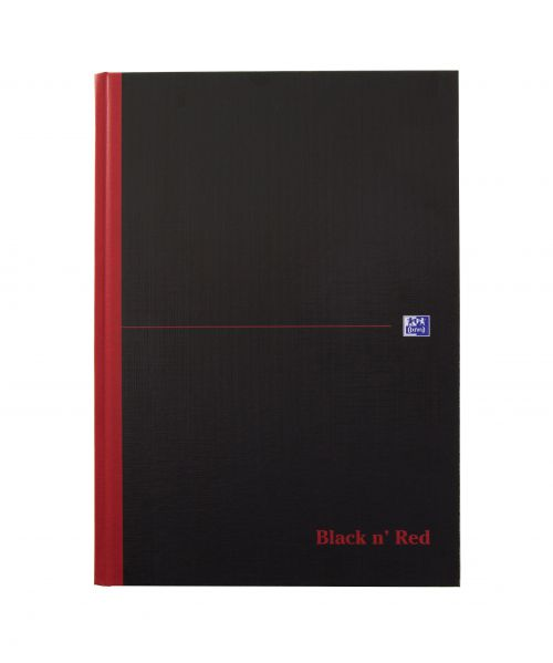Oxford Black n Red Casebound Notebook A4 Narrow Ruled 192pages 100080474