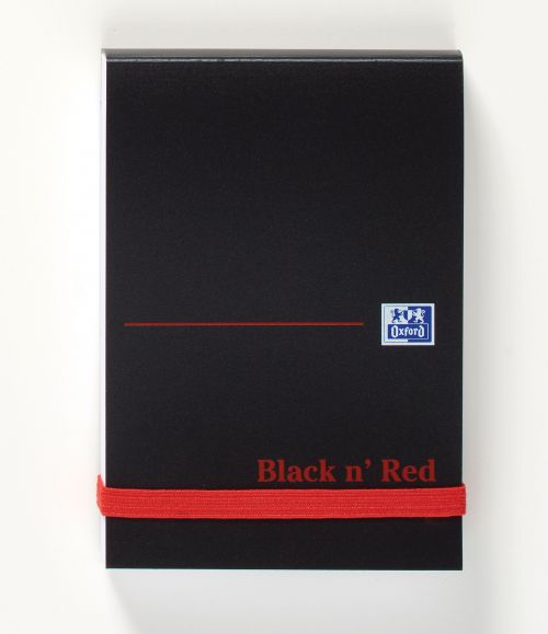 Black n Red A7 Casebound Polypropylene Cover Notebook PK10
