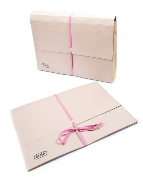 Elba Deed Legal Wallet with Security Ribbon 360gsm 75mm Foolscap Buff Ref 100080792 [Pack 25]