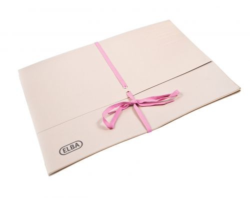 Elba Deed Legal Wallet with Security Ribbon 360gsm 100mm Foolscap Buff Ref 100080793 [Pack 25]