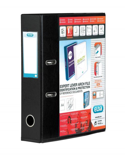 Elba Vision 70mm Lever Arch File A4 Black 100080896