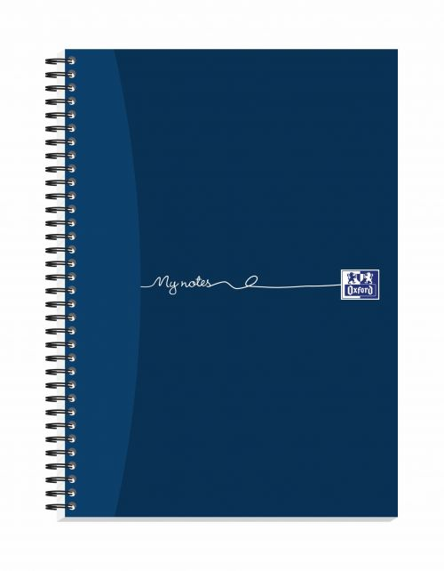 Oxford MyNotes Notebook Wirebound 90gsm Ruled Margin Perf Punched 4 Holes 200pp A4 Ref 100082373 [Pack 3]