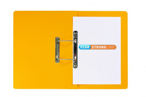 Elba StrongLine Spiral Transfer Spring File 320gsm Foolscap Yellow Ref 100090037 [Pack 25] [REDEMPTION]