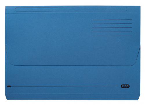 Elba Document Wallet Half Flap 285gsm Capacity 32mm A4 Blue Ref 100090129 [Pack 50]