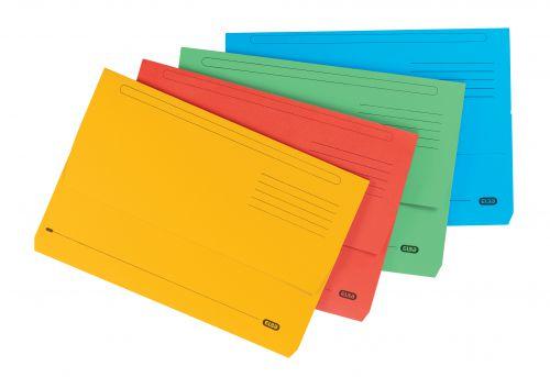 Elba StrongLine Manilla Document Wallet 320gsm Foolscap Assorted Ref 100090138 [Pack 25] [REDEMPTION]