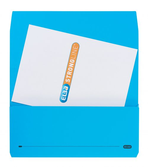 Elba Bright Manilla Document Wallet 320gsm Capacity 32mm Foolscap Blue Ref 100090140 [Pack 25]