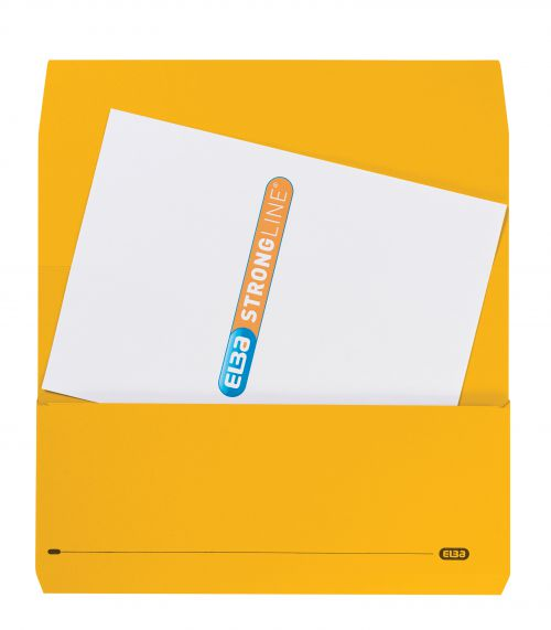 Elba StrongLine Manilla Document Wallet 320gsm 32mm Foolscap Yellow Ref 100090141 [Pack 25] [REDEMPTION]