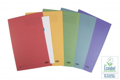 Elba Foolscap Square Cut Folder Recycled Mediumweight 285gsm Manilla Assorted Ref 100090142 [Pack 25]