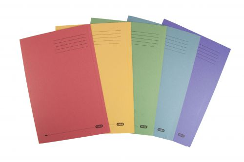 Elba Foolscap Square Cut Folder Recycled 285gsm Manilla Assorted Ref 100090142 [Pack 25]