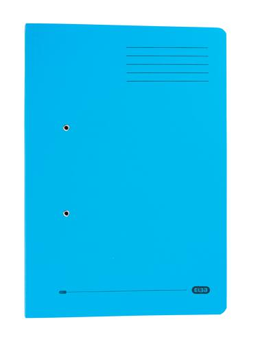 Elba Stratford Spring Pocket Transfer File Manilla Foolscap 320gsm Blue (Pack 25)