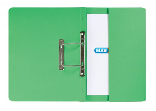 Elba StrongLine Transfer Spring File Recycled 320gsm Foolscap Green Ref 100090147 [Pack 25] [REDEMPTION]