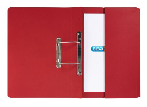 Elba Strongline Transfer Spring File Recycled Pocket 320gsm 36mm Foolscap Bordeaux Ref100090149[Pack 25]