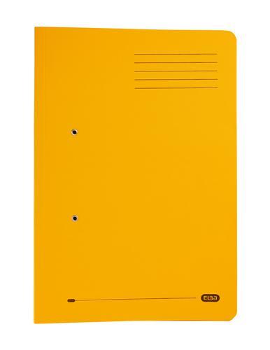 Elba Stratford Spring Pocket Transfer File Manilla Foolscap 320gsm Yellow (Pack 25)