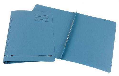 Elba Ashley Flat Bar File (no pocket) 285gsm Capacity 35mm Foolscap Blue Ref 100090154 [Pack 25]