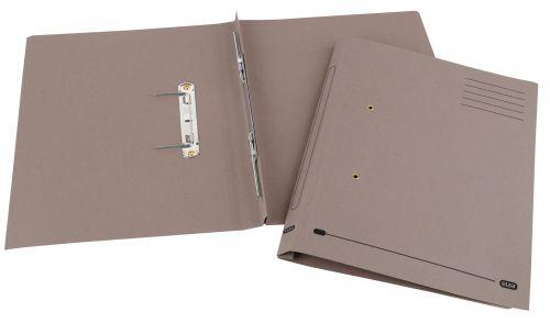 Elba Spirosort Transfer Spring File Recycled Mediumweight 285gsm Foolscap Buff Ref 100090158 [Pack 25]