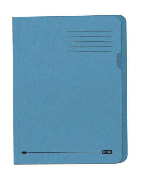 Elba A4 Square Cut Folder Recycled Lightweight 180gsm Manilla Blue Ref 100090203 [Pack 100]