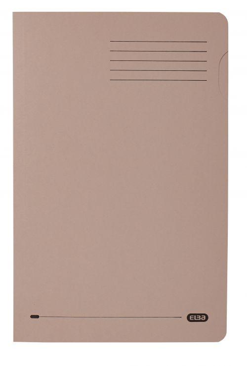 Elba Square Cut Folder Mediumweight 250gsm Foolscap Buff (Pack of 100) 100090216